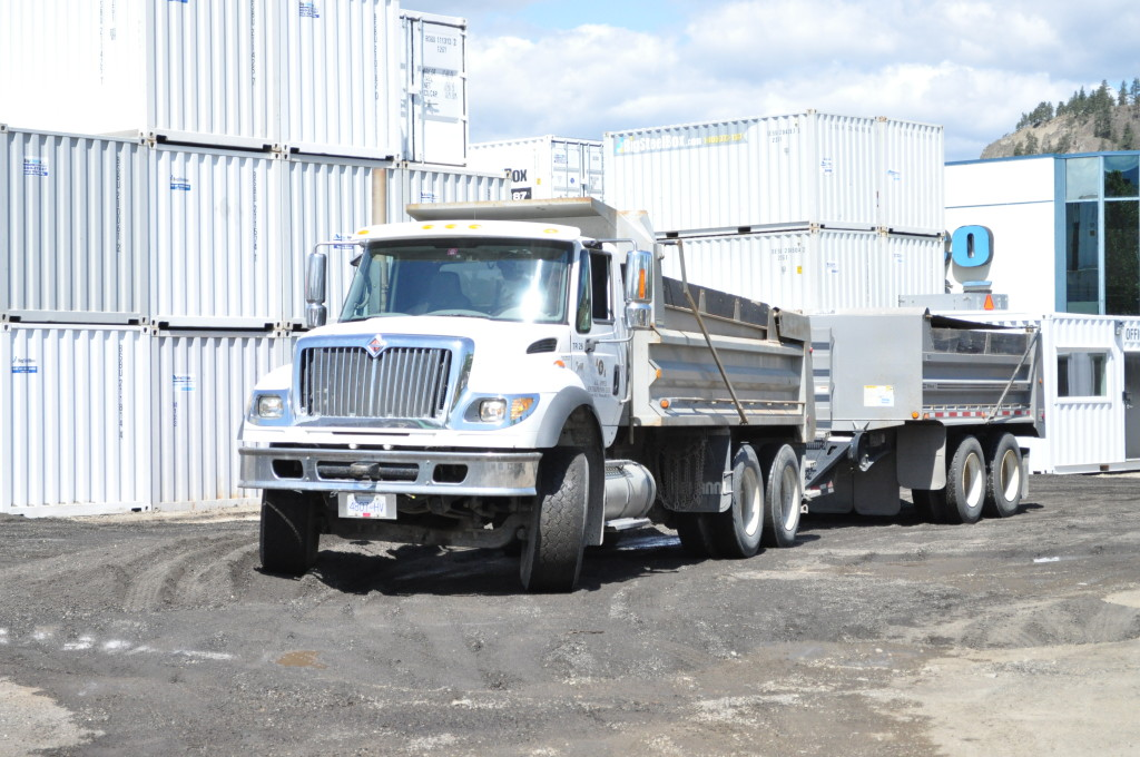 Commercial gravel truck & trailer