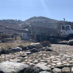Stone Slinger Filling Garden