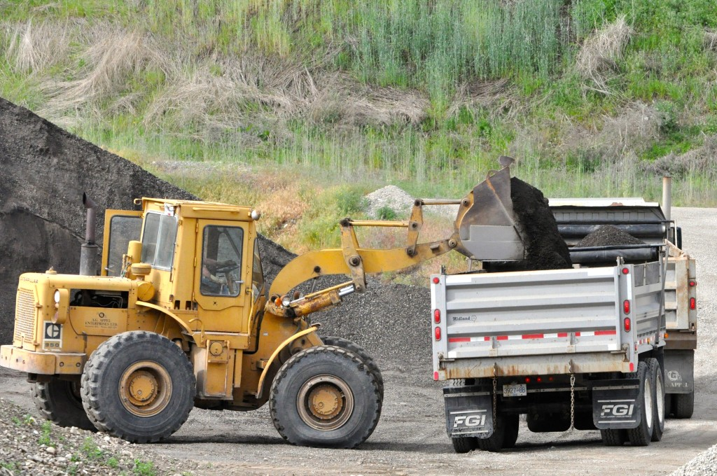 Loader With Topsoil