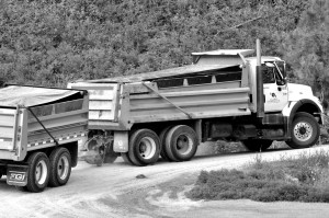 Residential gravel truck & trailer